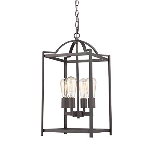 Emliviar 4 Light Foyer Chandelier, Lantern Pendant Light...