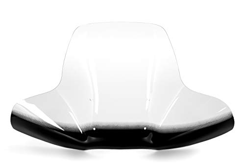 Black Boar ATV Wraparound Windshield with Hardware-Easily Mounts onto Your Handlebar to Deflect Wind, Rain, Mud and Insects (66031)