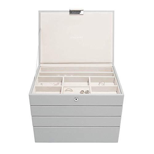 Stackers Pebble Grey Classic - Joyero (tamaño mediano, 4 unidades)