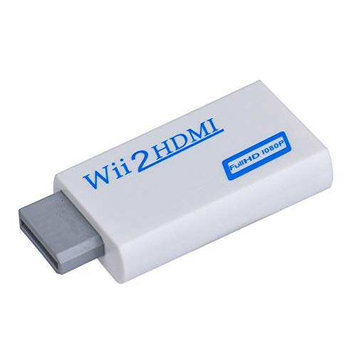 GDreamer 1080p Output Wii to HDMI 1080P HD Output Upscaling Converter, Supports All Wii Display Modes, HDMI Upscale to 1080p Output