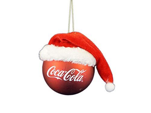 Kurt Adler Coca-Cola Ball w/Santa Hat Ornament Standard