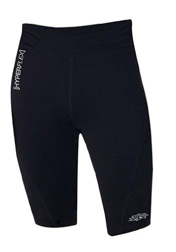 Hyperflex Wetsuits poliolefina Hombres de Pantalones Cortos, Hombre, Negro