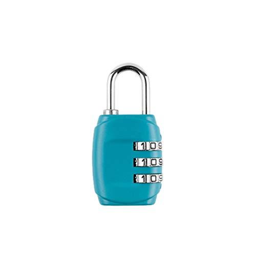 Kofferschloss TSA, Zahlenschloss Gepäckschlösser Reiseschlösser 4-stellige Zahlenkombination - Bestes TSA anerkanntes für Reisesicherheit,Blau * 1 Stück