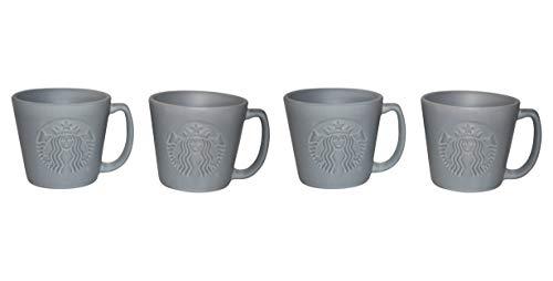 Starbucks - Juego de tazas de café expreso (4 unidades), color gris