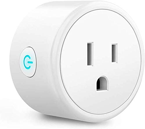 Smart Plug Compatible with Alexa, Google Assistant, SIRI IFTTT for Voice Control, Mini Smart Outlet Home Automation Modules, No Hub Required, Supports 2.4GHz Network Only,