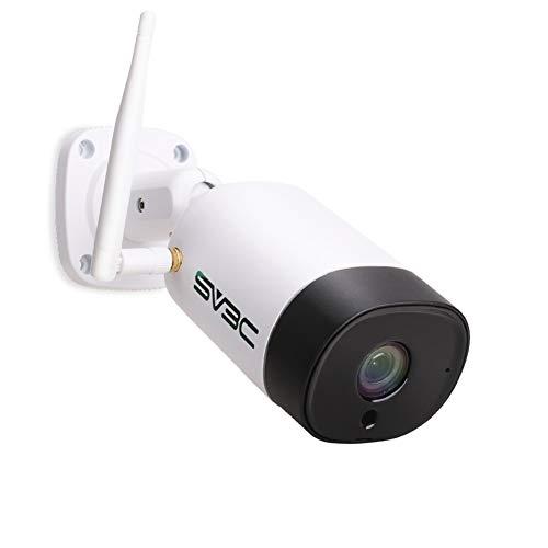SV3C Telecamera wi-fi Esterno senza fili FHD 5MP Videocamera Sorveglianza Esterno wifi con IP67 Impermeabile, Visione Notturna, Motion Detect, Audio a 2 Vie, Vista a Distanza Tramite Phone/PC