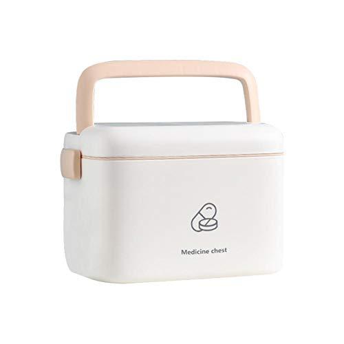 Neckip Hausapotheke Box - Groß Medizinbox - 2 Ebene Medizinkoffer Erste Hilfe Koffer - Multifunktions Aufbewahrungsbox mit Tragegriff - 241615.5cm/9.456.306.10in