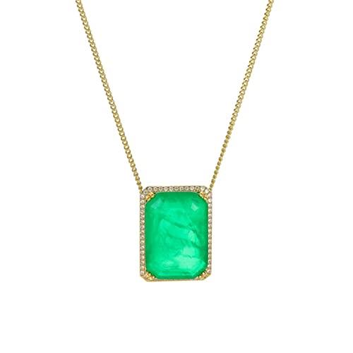 CHENLING Vinregem 925 plata esterlina esmeralda moissanita pendientes de piedras preciosas/colgante/collar de boda de compromiso de lujo conjuntos de joyas regalos