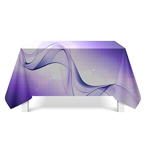 DREAMING-Aurora Muster Kunst Tischdecke Home Tischdecke Tv-Schrank Couchtisch Tuch Runde Tisch Tischset 140cm * 200cm
