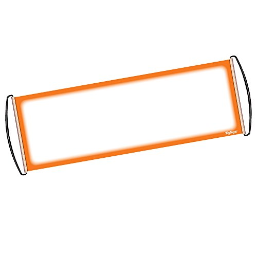 "ZIPSIGN Orange Dry Erase Banner Rolls Itself Up, Unrolls to 9.5"" x 27"", Reusable, Handheld, Portable, Fits in Your Pocket – Great for Sports, Concerts, Cheer, Team Spirit - 1-Year Warranty"
