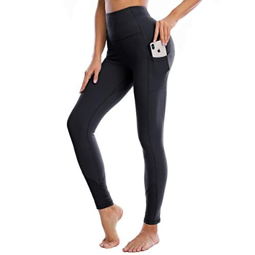 Yaavii Mesh Yoga Pants for Women High Waist Stretch Gym Leggings with pockets Workout Fitness
