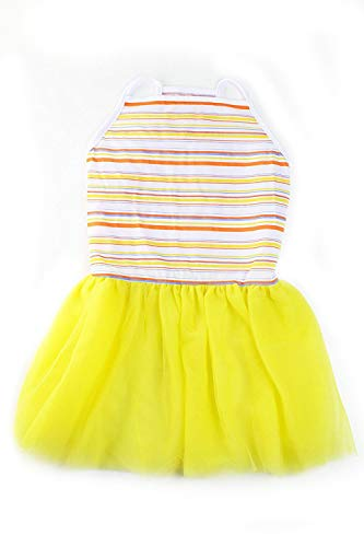 Midlee Colorful Stripe Tutu Large Dog Dress