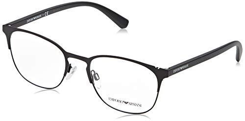 Emporio Armani 0EA1059 Monturas de gafas, Matte Black/Black, 53 para Hombre