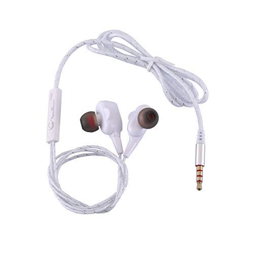Ashley GAO Auriculares Deportivos de Doble Movimiento en la Oreja Auriculares con Cable de subwoofer de Metal Auriculares universales para computadora de teléfono móvil