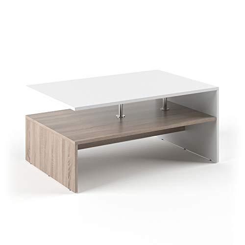Vicco Tavolino da divano Amato Tavolino da salotto Bianco Sonoma Tavolino divano