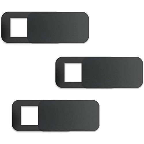 Mogzank 3 Pcs Computer Tablet Camera Anti-Peeping Privacy Patch Slide Cover Webcam Cover Laptop Camera Cover Sliding Black