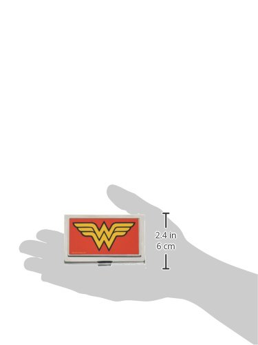 Buckle-Down Business Card Holder - Wonder Woman Logo Red - Small Photo #3