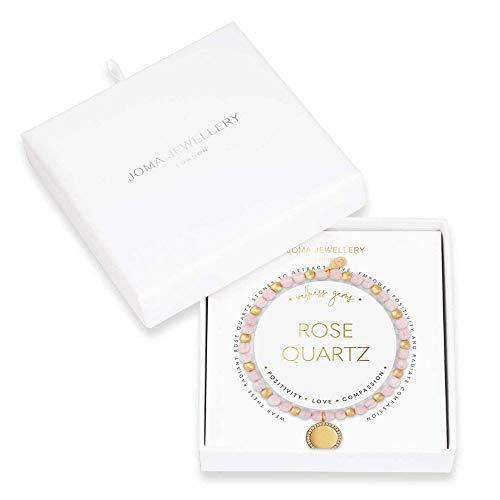 Joma Jewellery Wellness Gems | Rose Quartz Bracelet