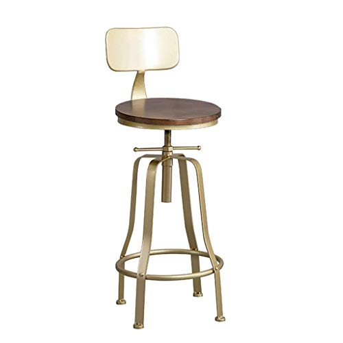 Jhgu stoelen, eetkamer, bar, draaibaar, industrieel, kruk, voetensteun, van hout, draaibaar, zitleuning, stoel voor eetkamer, bar, eettafel, keuken, huis, in hoogte verstelbaar 60~80 °C