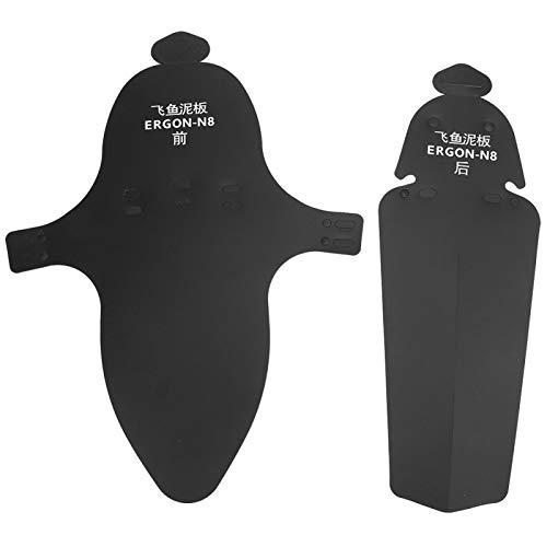 EVTSCAN Defensas de la Bici de montaña, defensas plásticas del Guardabarros de la Bicicleta de la Bici de montaña del Camino para la Rueda Trasera Delantera(Flying Fish Fender)