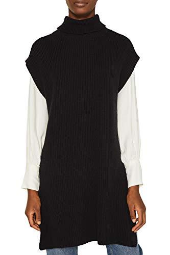 ESPRIT Damen 109EE1I095 Pullunder, Schwarz (Black 001), Large (Herstellergröße: L)