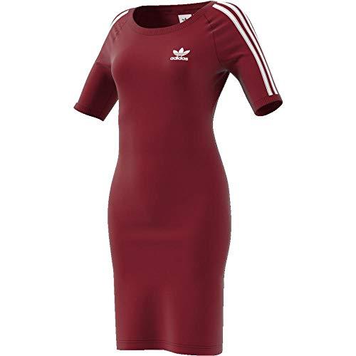 adidas 3 Stripes Dress Vestido de Tenis, Mujer, Buruni, 38