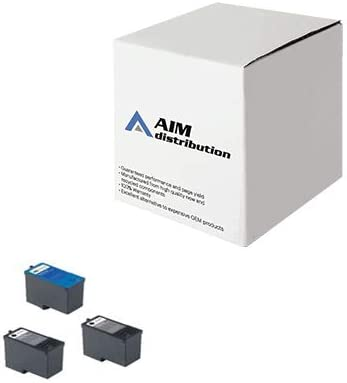 AIM Compatible Replacement for Dell 966/968/A966/A968 Inkjet Combo Pack (2-BLK/1-CLR) (Series 7) (2B1C968) - Generic