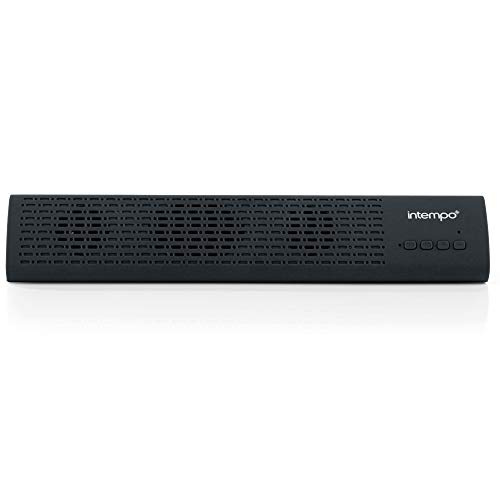 INTEMPO EE1809BLKSTK Mini Wireless Bluetooth Sound Bar for Computer, TV, Desktop PC, Notebook, Smartphone, 3 W Speaker Output, Supports TF Card and USB Drive, Black