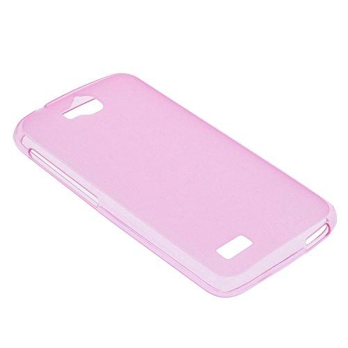 foto-kontor Tasche für Huawei Honor Holly Gummi TPU Schutz Hülle Handytasche pink - 3