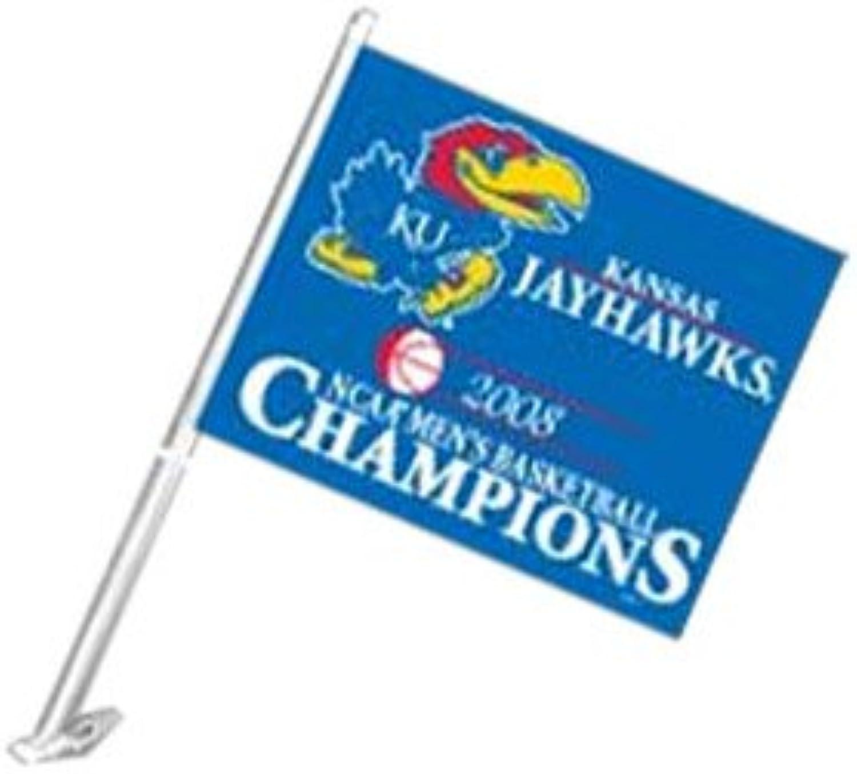 Kansas Jayhawks 2008 Men's Basketball National Champions Car Flag