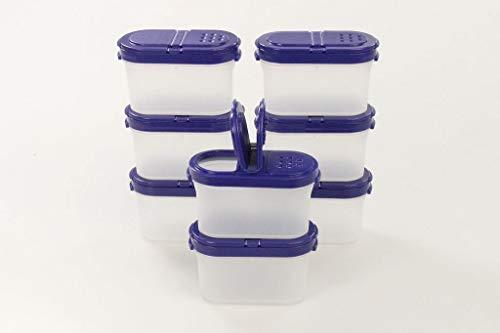Tupperware Gewürz-Zwerge 120 ml blau (8) Gewürz Behälter Gewürzbehälter klein 36641