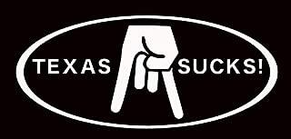 Texas Sucks - Horns Down - Vinyl Decal Sticker - Car Truck Wall Laptop Phone Tumbler Locker Decoration - HGC2124