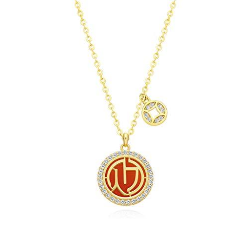 Gargantilla con colgante y accesorios para collares de mujer, collar personalizado, regalo para el día de San Valentín, joya para mamá, esposa, para ella (color: C)