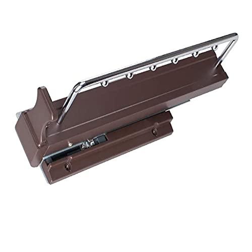 YZDKJDZ Percha extraíble con riel Amortiguador, Armario Extensible, Perchero Organizador de riel para Guardar Ropa, 18 in