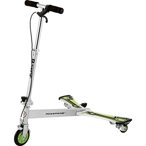 Razor PowerWing DLX Caster Scooter - Silver/Green