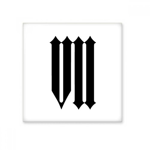 DIYthinker Romeinse cijfers Zeven In Zwart silhouet Keramische Bisque Tegels Badkamer Decor Keuken Keramische Tegels Wandtegels Large