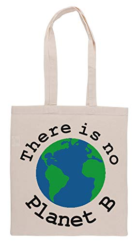 Luxogo There is No Planet B Einkaufstasche Groceries Beige Shopping Bag