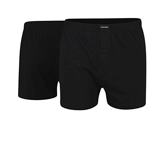 Ceceba Herren Boxershorts Shorts, 2er Pack, Schwarz (black 9000), Medium (Herstellergröße: 5)