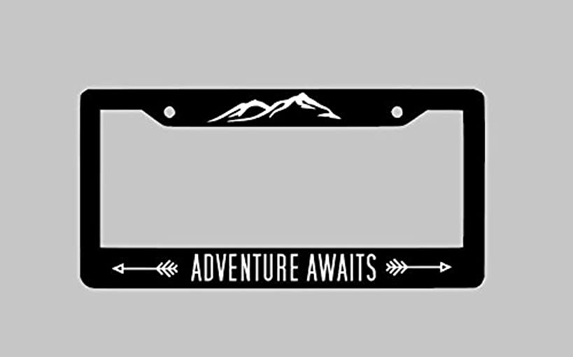 Dwi24isty Auto License Plate Frame Adventure Awaits License Plate Frame Car License Plate Personalized License Plate Custom Frame Holder
