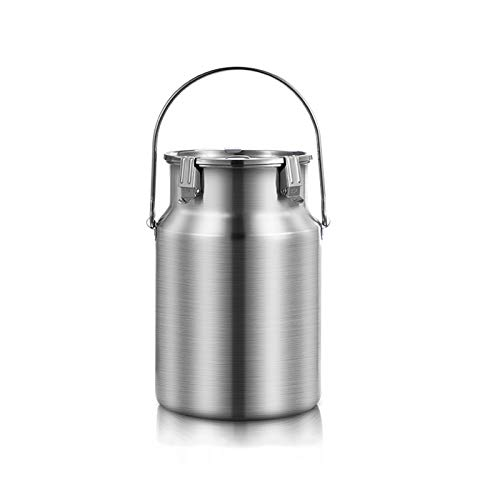 Forno elettrico in acciaio inox 304, latte lattina tote brocca con coperchio sigillato trasportabile latte fermentazione Barrel (colore : con manico, Dimensioni: 3L)