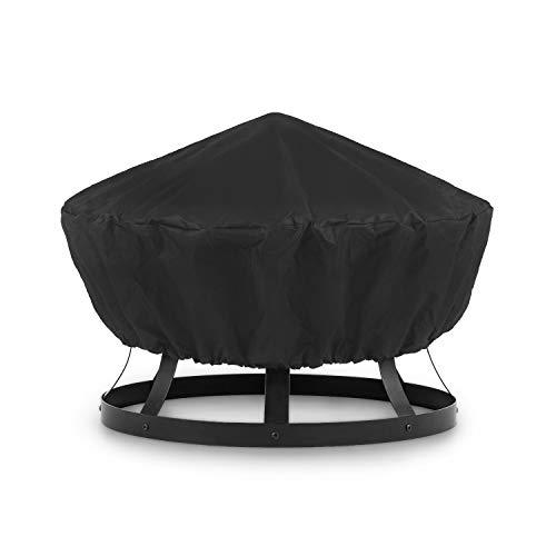 blumfeldt PentosWetterschutz Regenschutz Schutzhülle Cover - perfekte Passform Pentos 2-in-1 Feuerschale und Grill, Material: Nylon 600D, reißfest, wasserfest, abwaschbar, schwarz