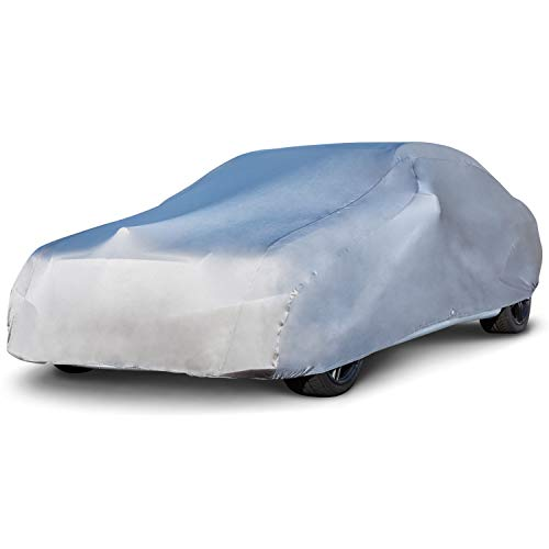 Budge GSC-4 Indoor Stretch Car Cover Gray Size 4: Fits up to 19' Luxury Protection, Soft Inner Lining, Breathable, Dustproof