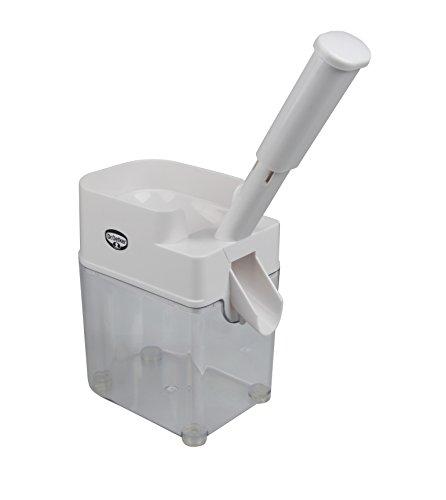 Dr. Oetker Kirschentkerner-Automat, entkernt Kirschen kuchen- und einmachgerecht im Handumdrehen, Klinge aus rostefreiem Edelstahl, hohe Standfestigkeit durch 4 rutschfeste Gummifüße, (Farbe: weiß), Menge: 1 Stück
