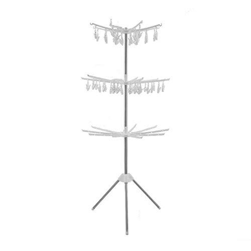 Wäschetrockner Wäscheständer Boden Aufhänger Haushalt Balkon Folding Wäschetrockner Edelstahl Kinder Handtuchwärmer Windelträger b 61 * 61 * 161cm