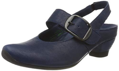 Think! 686246_Aida, Zapatos con Tira de Tobillo Mujer, Azul Indigo 89, 36 EU