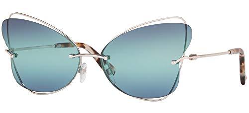 Valentino Gafas de sol VA2031 3006Y0 azul de plata de tamaño de 64 mm de gafas de sol de las mujeres