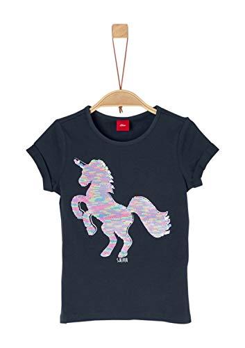 s.Oliver Junior Mädchen 54.899.32.0466 T-Shirt, Blau (Dark Blue 5834), 116 (Herstellergröße:...