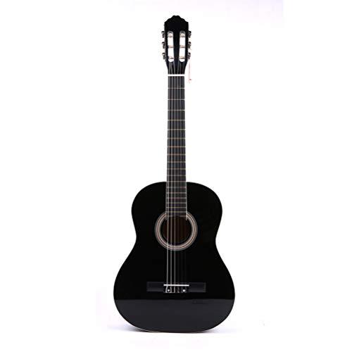DEAR-JY Volksgitarre, Klassische Gitarre, Holz, Gezupfte Musikinstrumente, Schwarze Akustikgitarre, 39-Zoll-Akustikgitarre, Bassgitarre