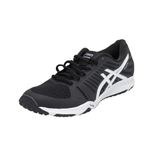 ASICS FUZEX TR Damen Sportschuhe Schwarz Sneaker Turn Schuhe, Größe:EUR 39.5 (UK 6)