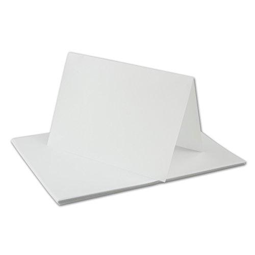 50x faltbares Einlege-Papier für A6 Doppelkarten - transparent-weiß - 143 x 200 mm (100 x 143 mm gefaltet) - ideal zum Bedrucken mit Tinte und Laser - hochwertig Mattes Papier von Gustav NEUSER®
